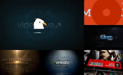 001 Simple Free After Effect Template Particle Logo Reveal Download Concept  -