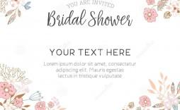 001 Simple Free Bridal Shower Invite Template Design  Invitation For Word Wedding Microsoft
