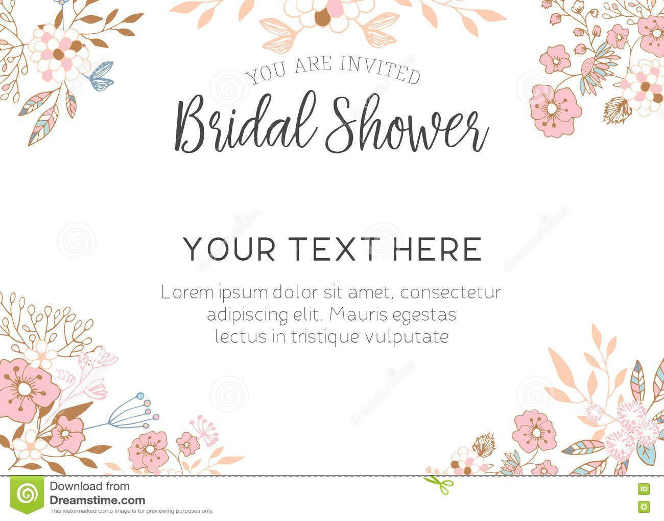 001 Simple Free Bridal Shower Invite Template Design  Invitation For Word Wedding MicrosoftFull