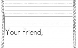 001 Simple Free Letter Writing Template 2nd Grade Image