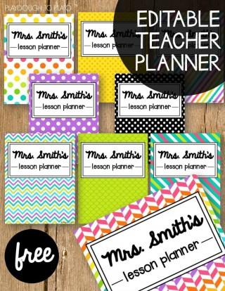 001 Simple Free Printable Teacher Binder Template Idea 320