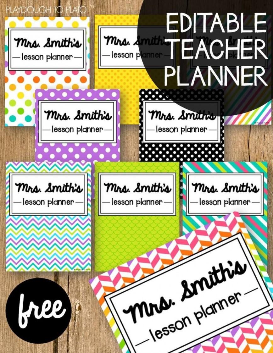 001 Simple Free Printable Teacher Binder Template Idea 868