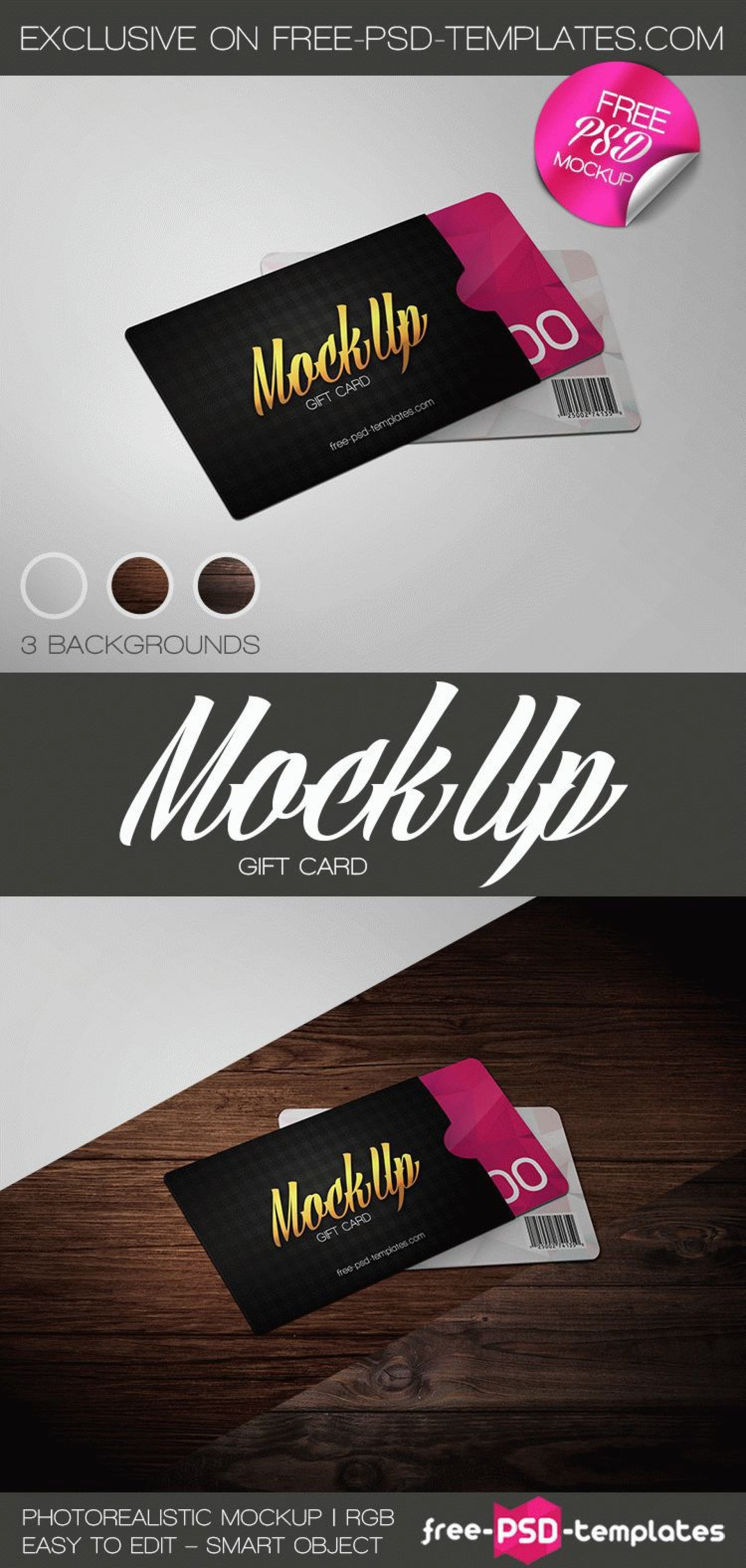 001 Simple Gift Card Template Psd Image  Christma Photoshop Free Holder1920