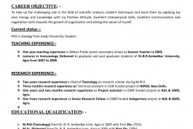 001 Simple Good Resume For Teaching Job High Resolution  Sample Teacher Fresher In India