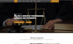 001 Simple Law Firm Website Template Free Highest Quality  Wordpres