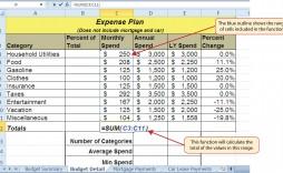 001 Simple Line Item Budget Formula Idea