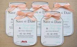 001 Simple Mason Jar Invitation Template Inspiration  Free Wedding Shower Rustic