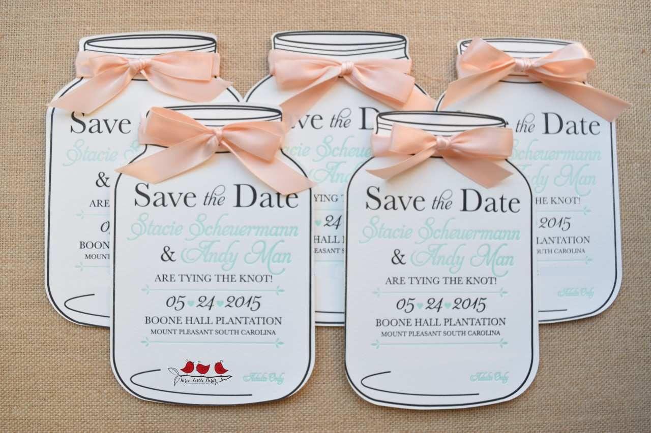 001 Simple Mason Jar Invitation Template Inspiration  Free Wedding Shower RusticFull