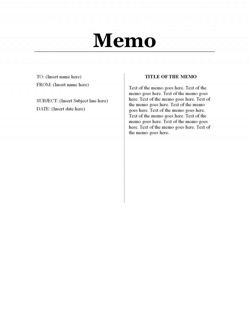 001 Simple Memo Template For Word High Resolution  Free Cash Sample 2013Large