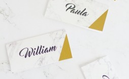 001 Simple Name Place Card Template Free Download Highest Quality  Psd Vector
