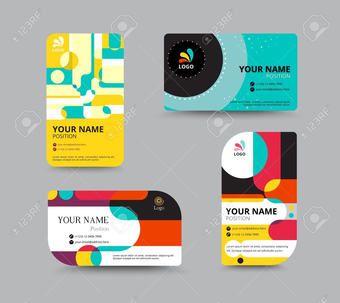 001 Simple Name Tag Design Template Inspiration  Free Download PsdFull