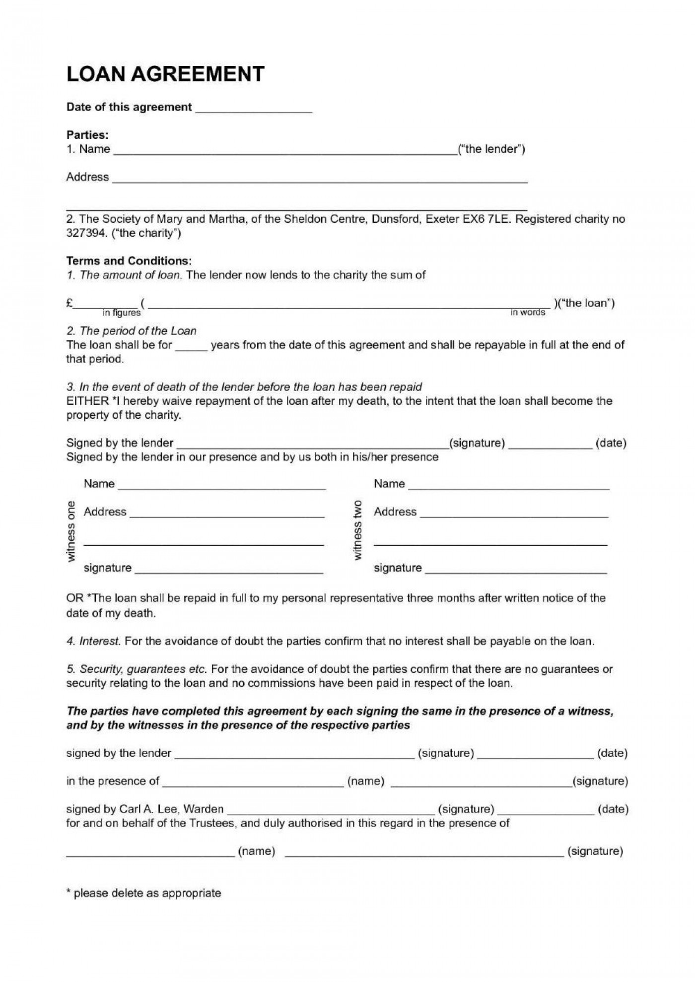 001 Simple Personal Loan Agreement Template Highest Quality  Contract Free Word Format South Africa1400