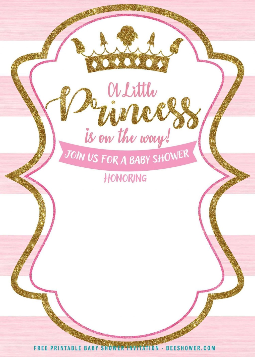 001 Simple Princes Baby Shower Invitation Template Image  Templates Little Royal Red DisneyLarge
