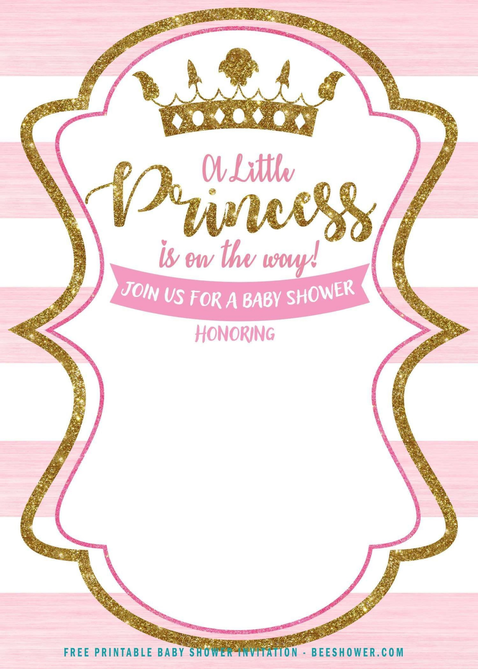 001 Simple Princes Baby Shower Invitation Template Image  Templates Little Royal Red Disney1920