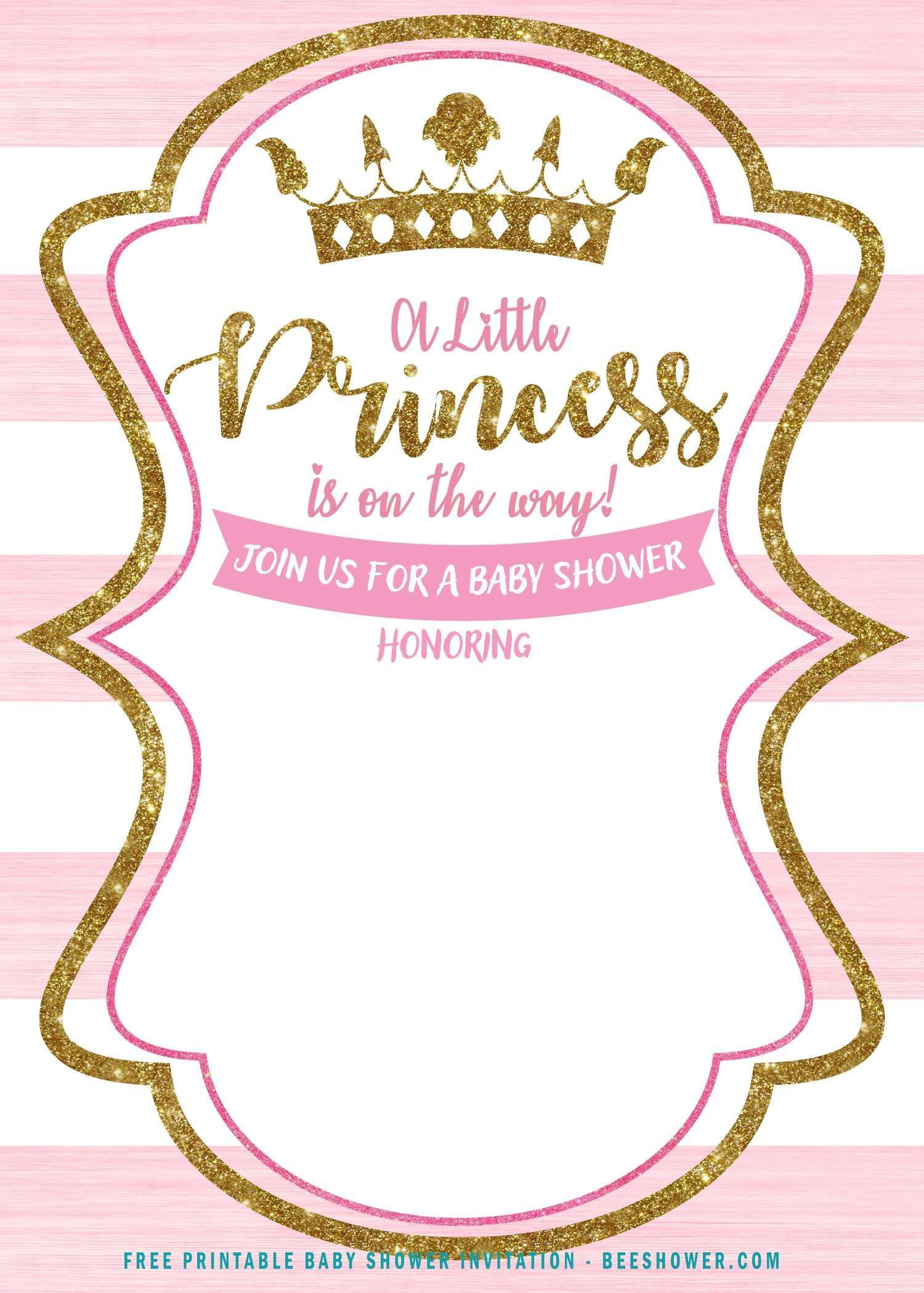 001 Simple Princes Baby Shower Invitation Template Image  Templates Little Royal Red DisneyFull