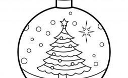 001 Simple Printable Christma Ornament Template Example  Templates Stencil Felt Pattern Tree