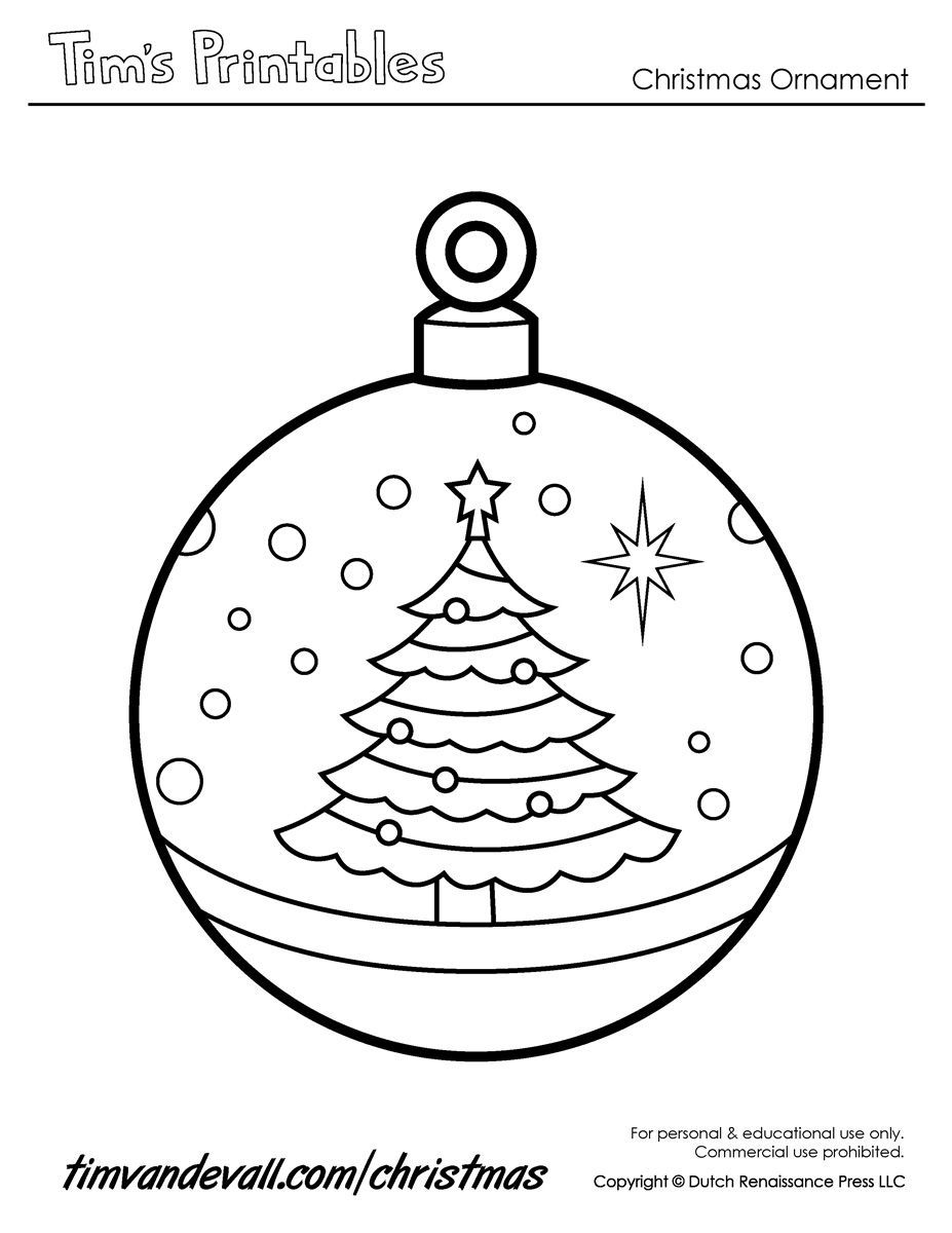 001 Simple Printable Christma Ornament Template Example  Templates Stencil Felt Pattern TreeFull