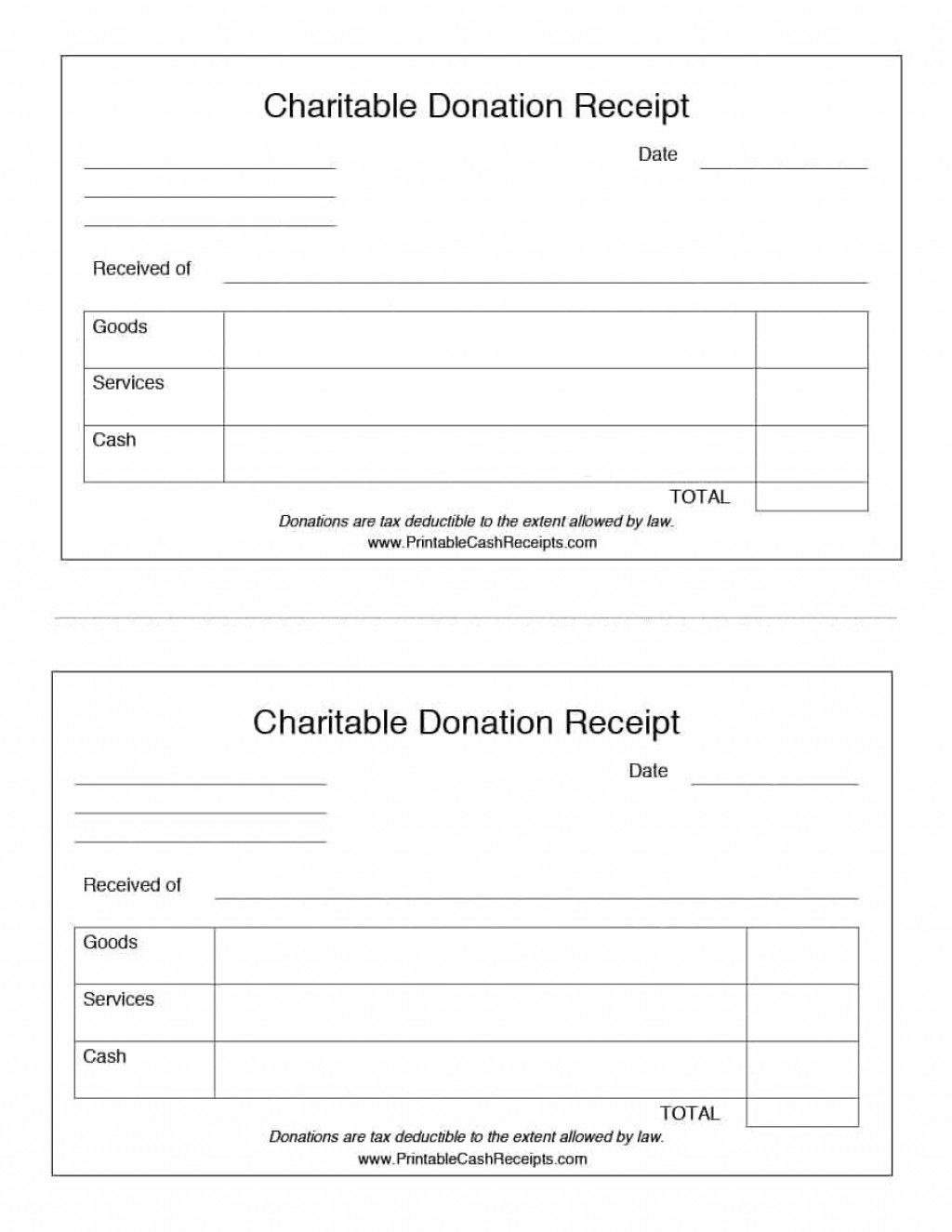 001 Simple Printable Donation Form Template Picture  Blank ReceiptLarge