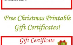 001 Simple Printable Gift Certificate Template Highest Quality  Card Free Christma Massage
