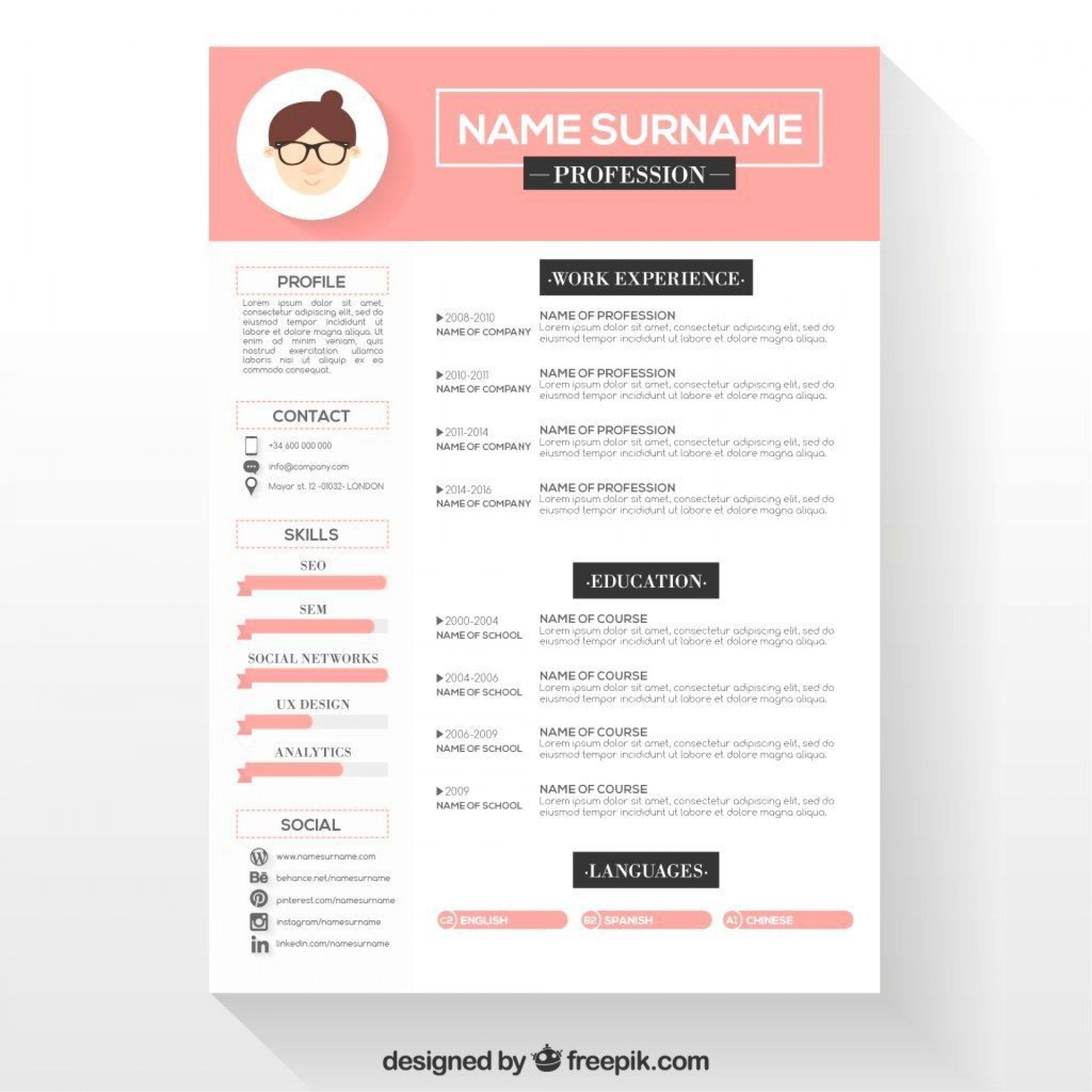 001 Simple Resume Template Download Word Picture  Cv Free 2018 2007 Document For Fresher1920