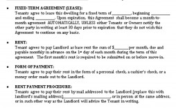 001 Simple Sample House Rental Agreement Template High Resolution  Contract Lease