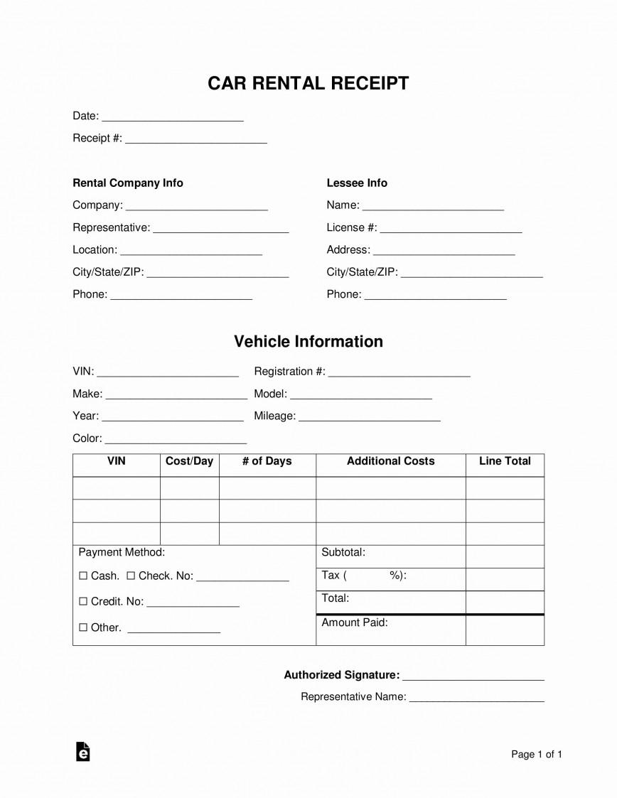 001 Simple Sample Rent Receipt India Doc Highest Clarity 868