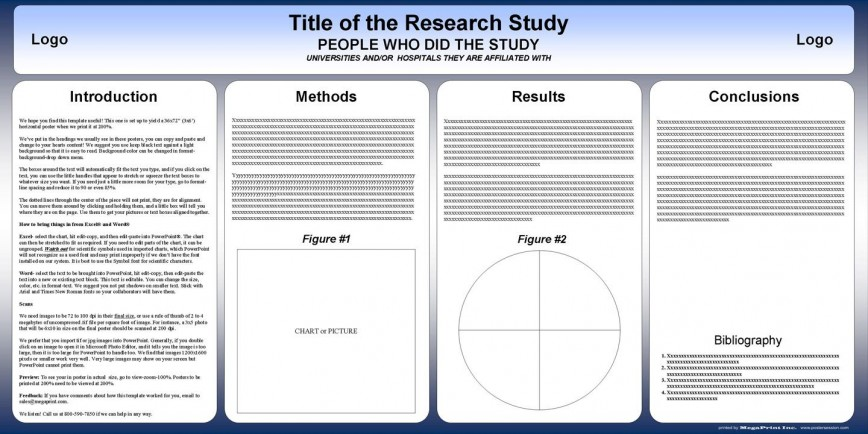 001 Simple Scientific Poster Design Template Free Download Example