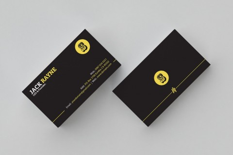 001 Simple Busines Card Template Free Picture  Minimalist Illustrator Design480