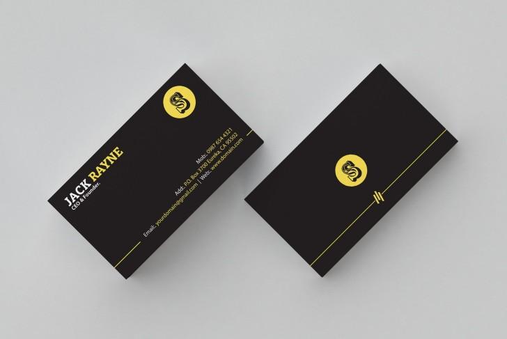 001 Simple Busines Card Template Free Picture  Minimalist Illustrator Design728