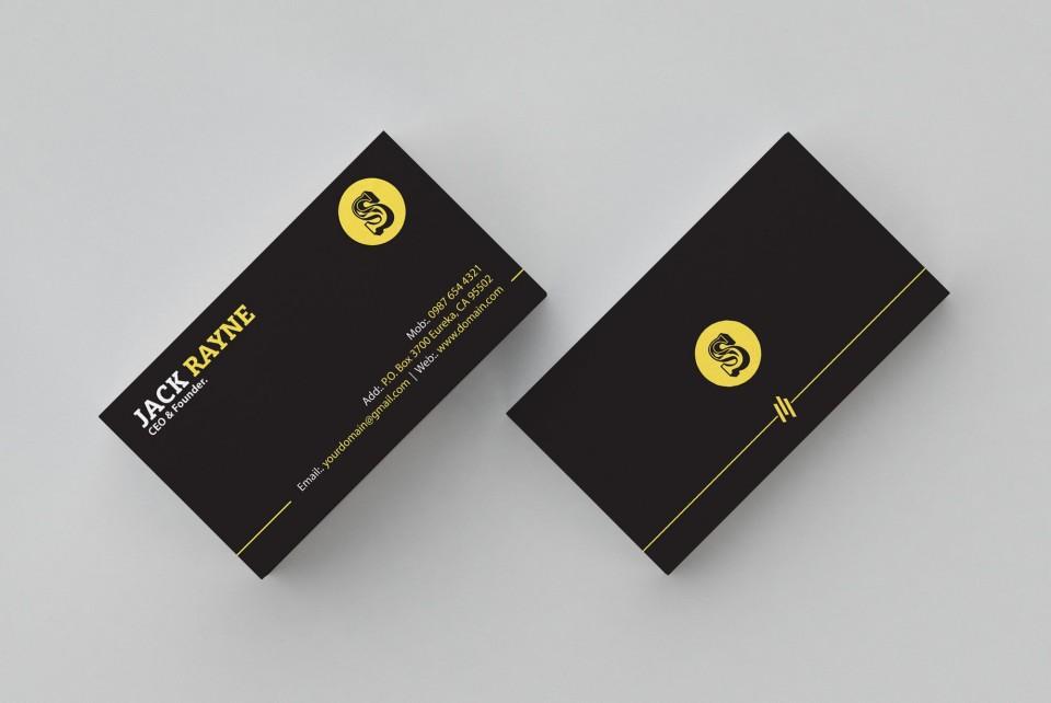001 Simple Busines Card Template Free Picture  Minimalist Illustrator Design960