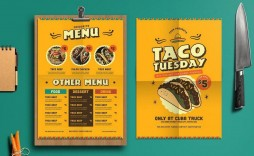 001 Simple Take Out Menu Template High Def  Tri Fold Free Word Restaurant Away
