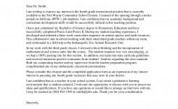 001 Simple Teacher Cover Letter Template High Def  Teaching Job