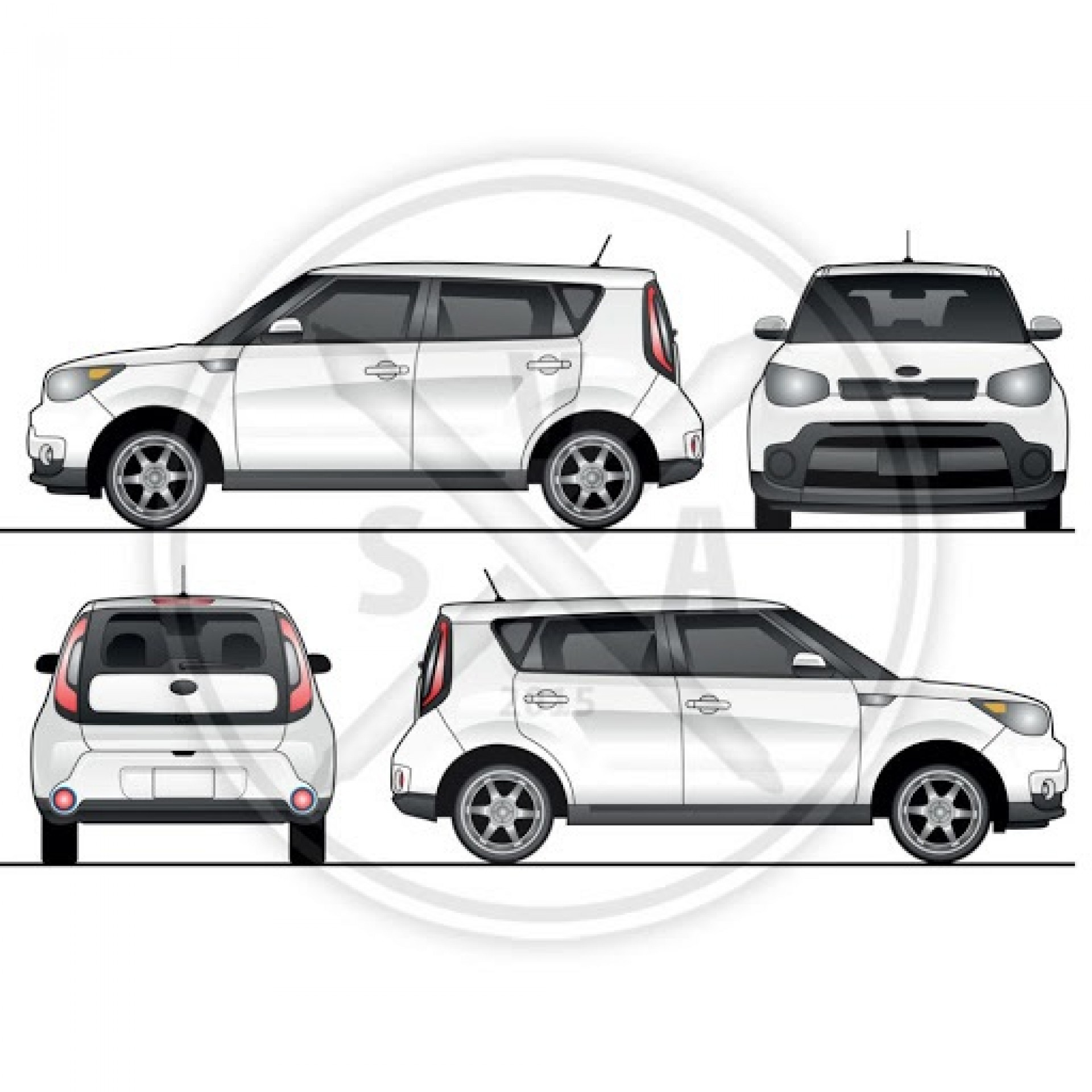 001 Simple Vehicle Wrap Template Free Download Highest Clarity  Downloads Car1920