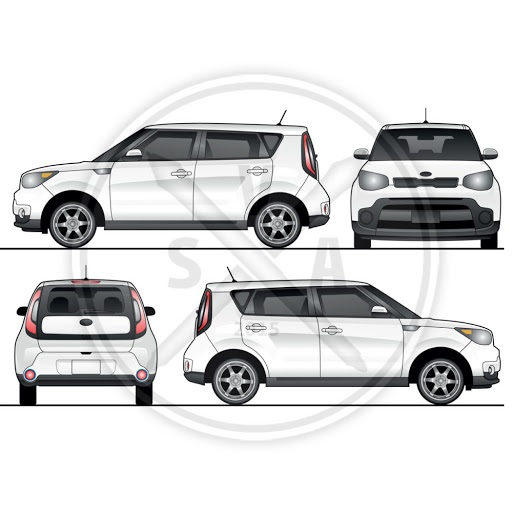 001 Simple Vehicle Wrap Template Free Download Highest Clarity  Downloads CarFull