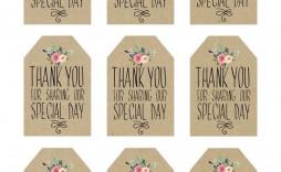 001 Simple Wedding Favor Tag Template Idea  Templates Editable Free Party Printable