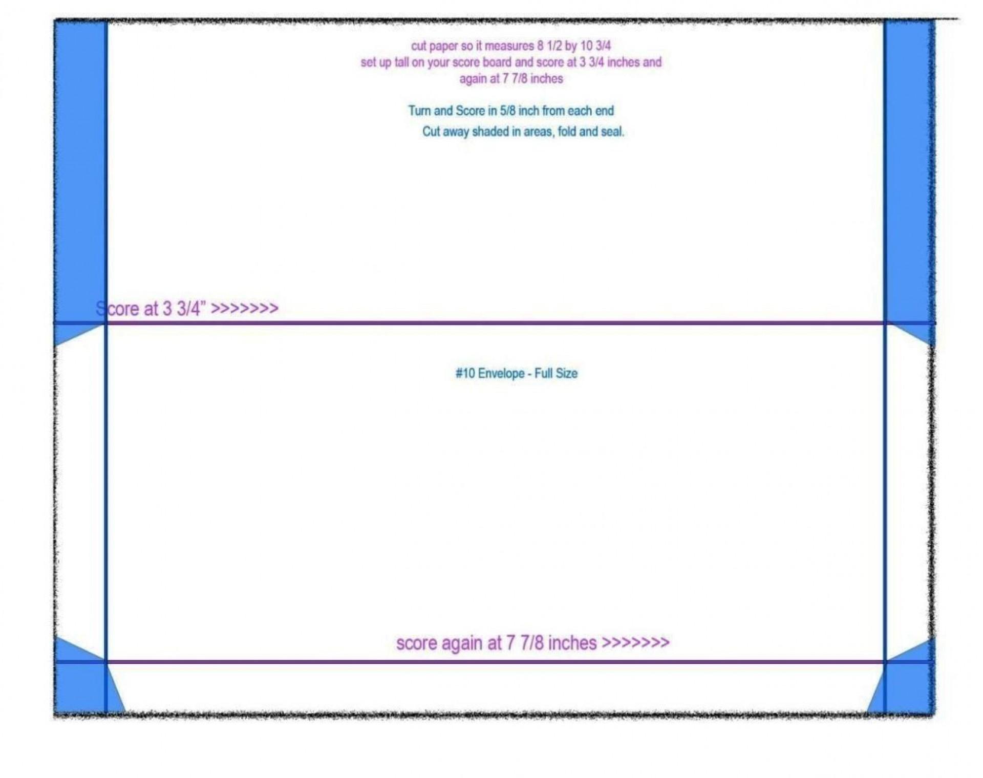 001 Singular 10 Envelope Template Word Concept  Size Microsoft #10 Double Window1920