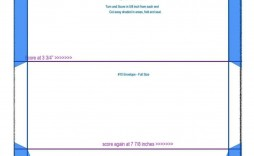 001 Singular 10 Envelope Template Word Concept  Size Microsoft #10 Double Window