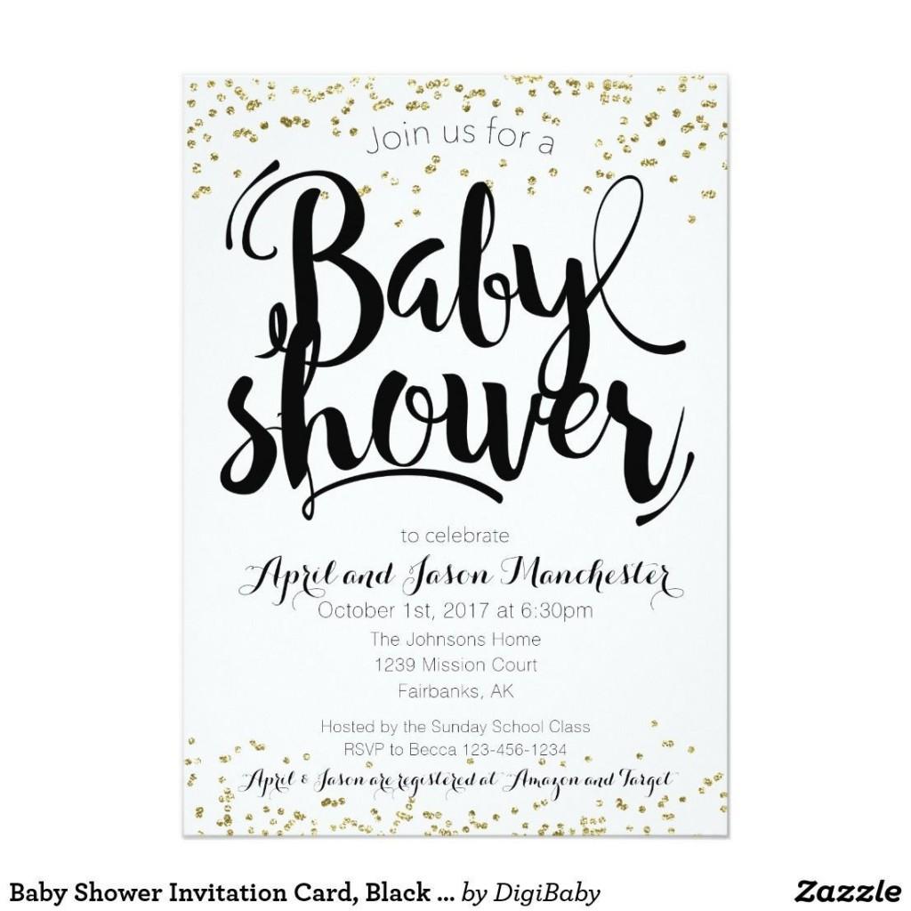 001 Singular Baby Shower Card Printable Black And White High Def Large