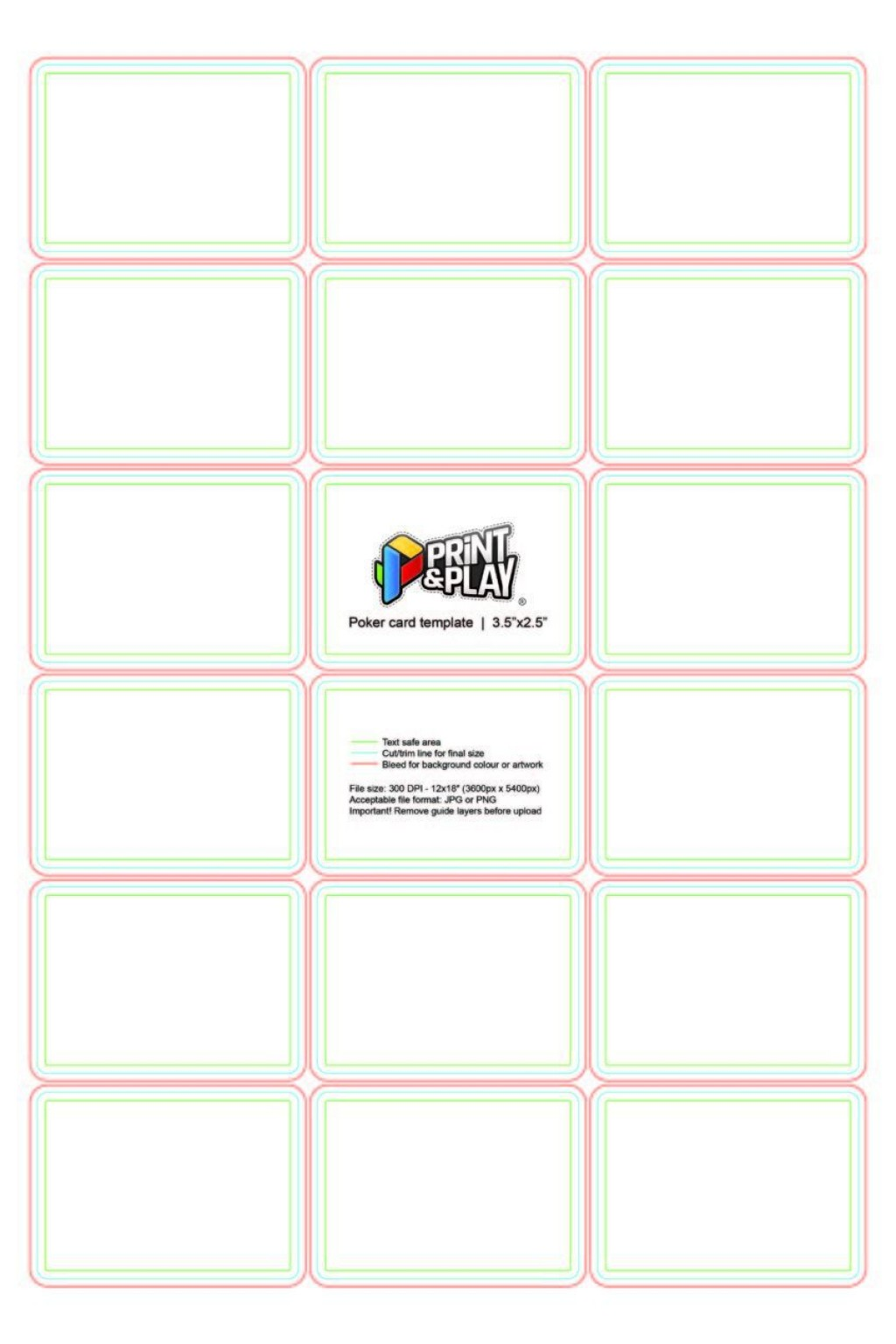 001 Singular Blank Playing Card Template Word Highest Quality Large
