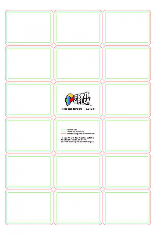 001 Singular Blank Playing Card Template Word Highest Quality 1920