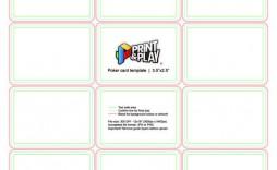 001 Singular Blank Playing Card Template Word Highest Quality