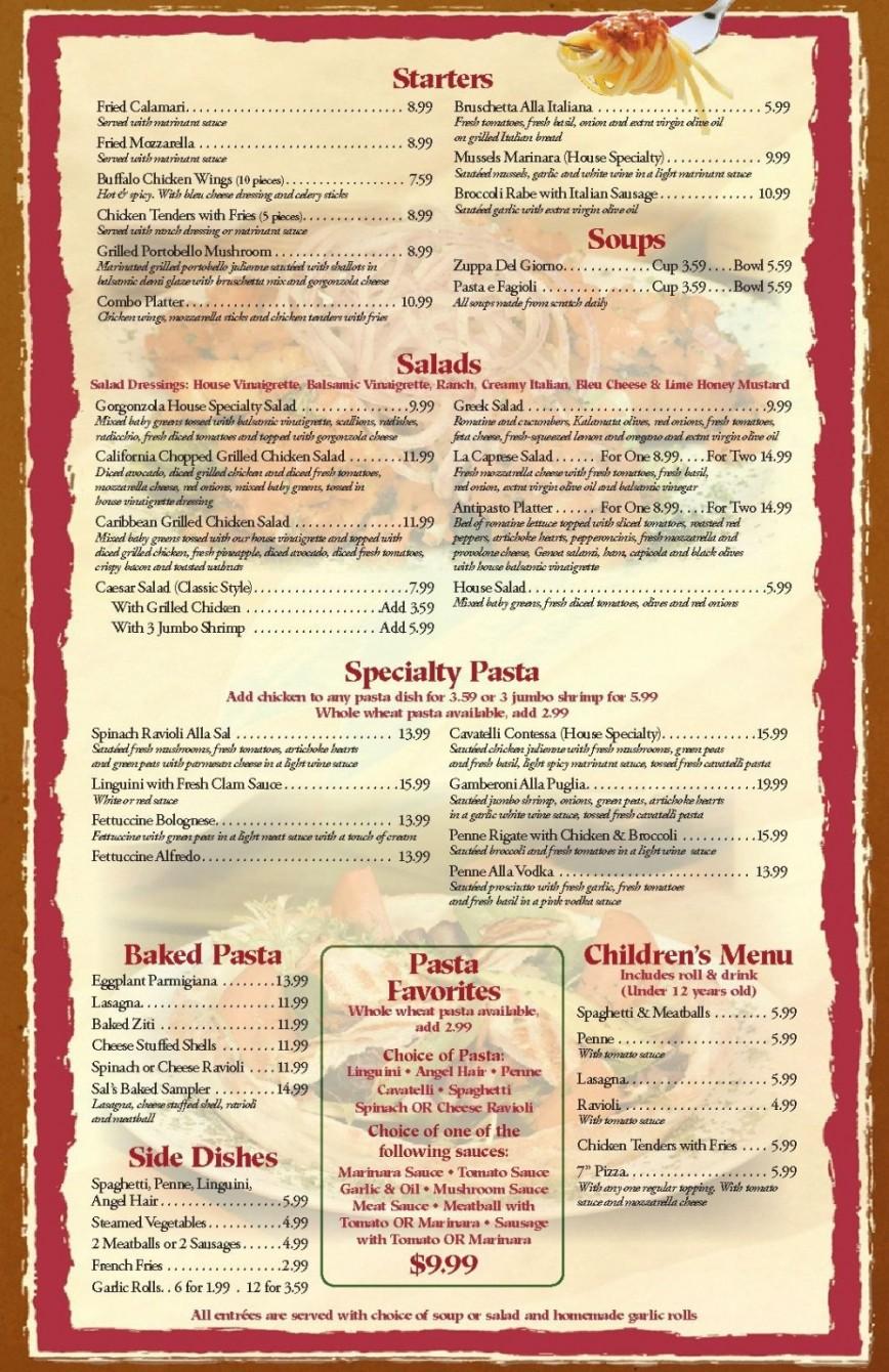 001 Singular Blank Restaurant Menu Template High Resolution  Downloadable Free Download