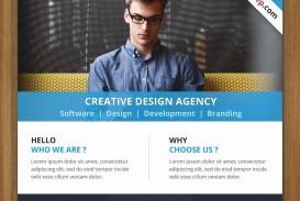 001 Singular Busines Flyer Template Free Download Concept  Photoshop Training Design