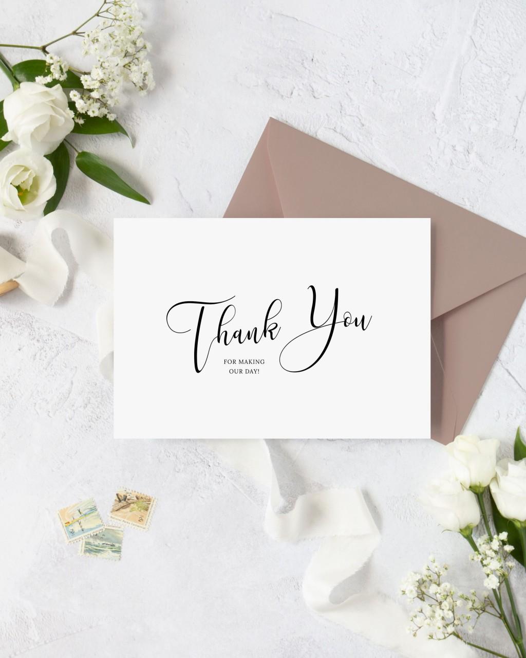 001 Singular Diy Wedding Thank You Card Template Inspiration  TemplatesLarge