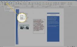 001 Singular Format Brochure Word 2007 Image