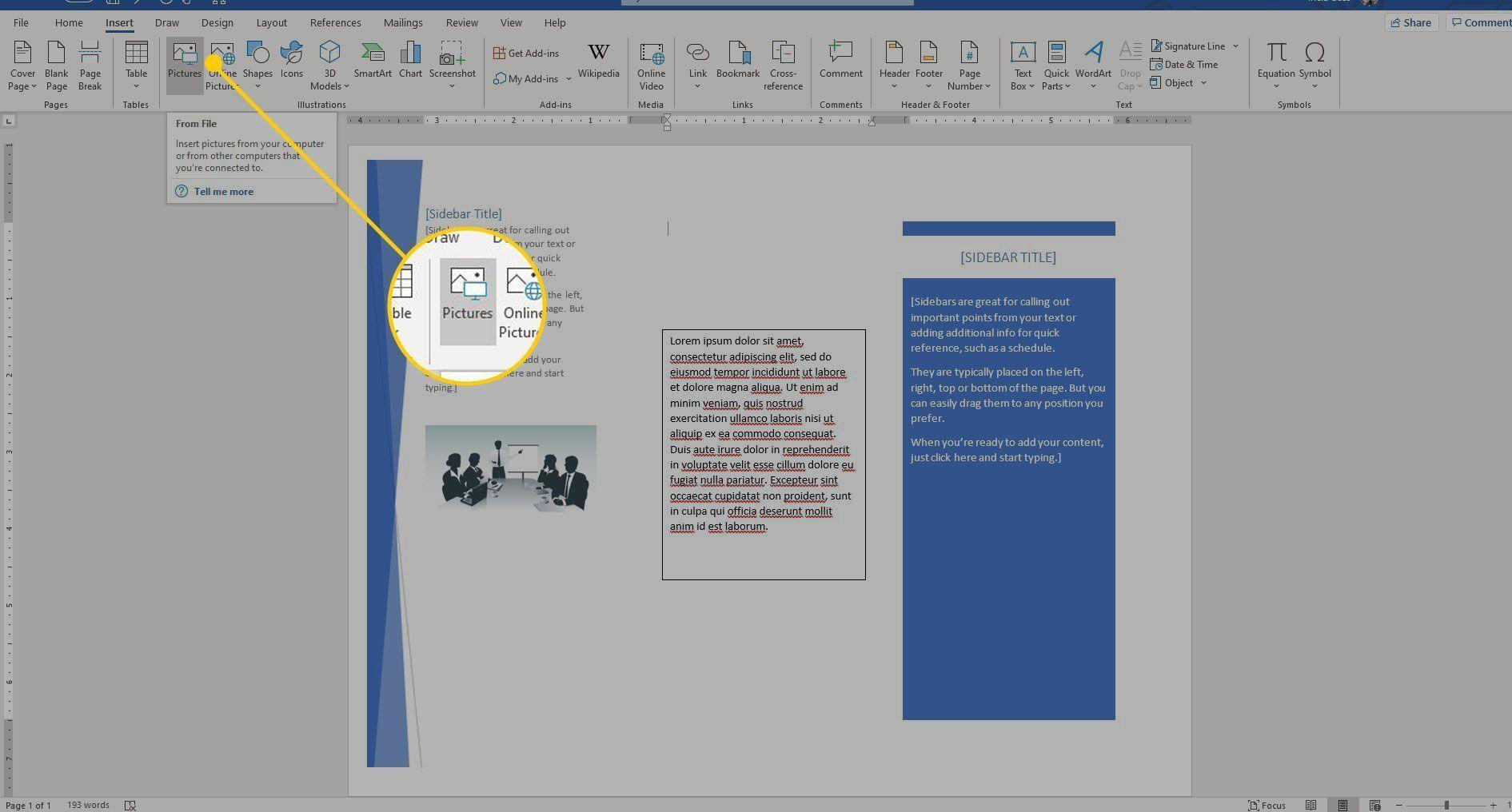 001 Singular Format Brochure Word 2007 Image Full