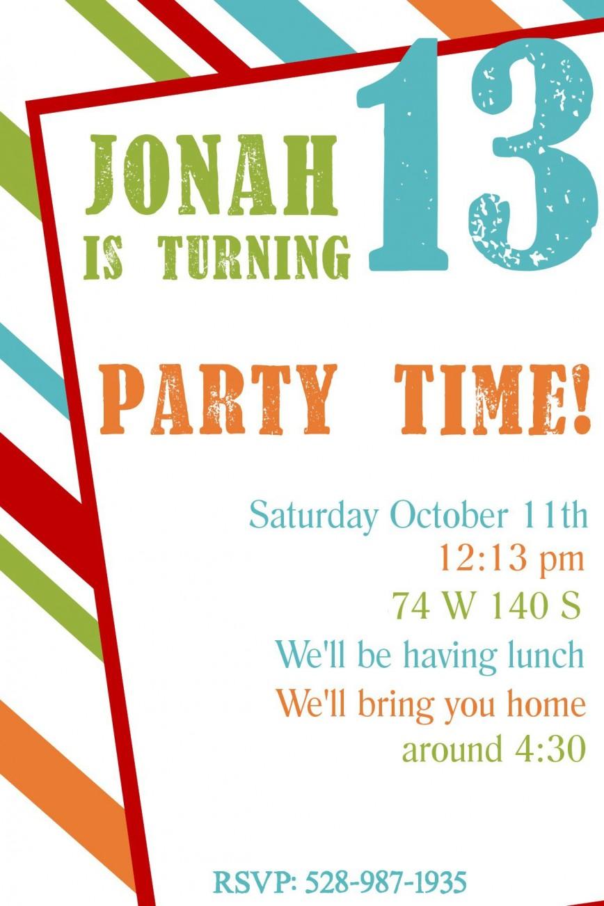 001 Singular Free Birthday Party Invitation Template Idea  Templates Word With Photo