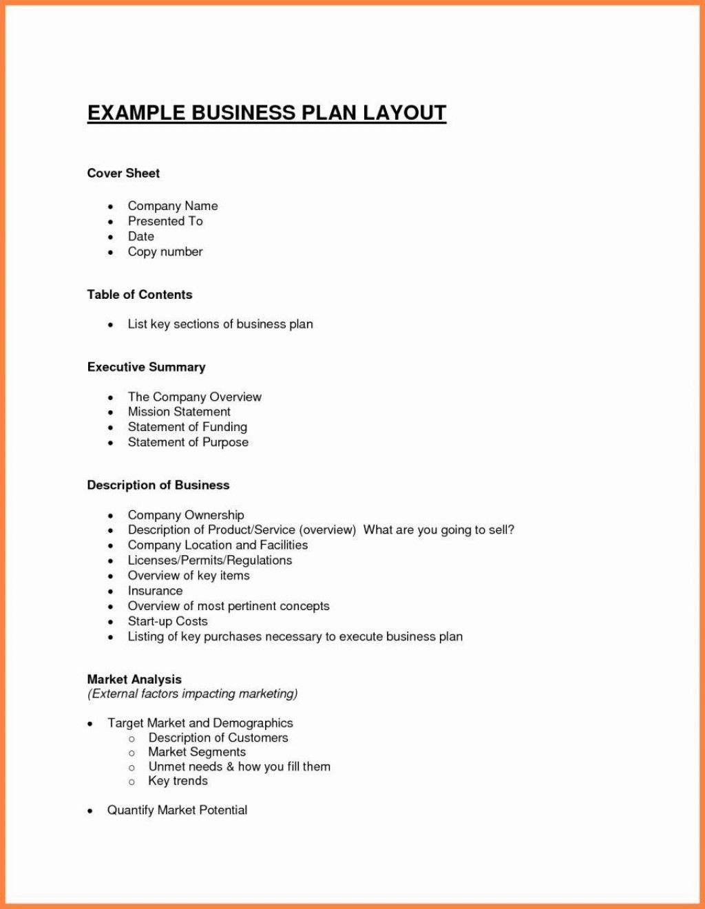 001 Singular Free Busines Plan Template Word Picture  Download Document Sample DocLarge