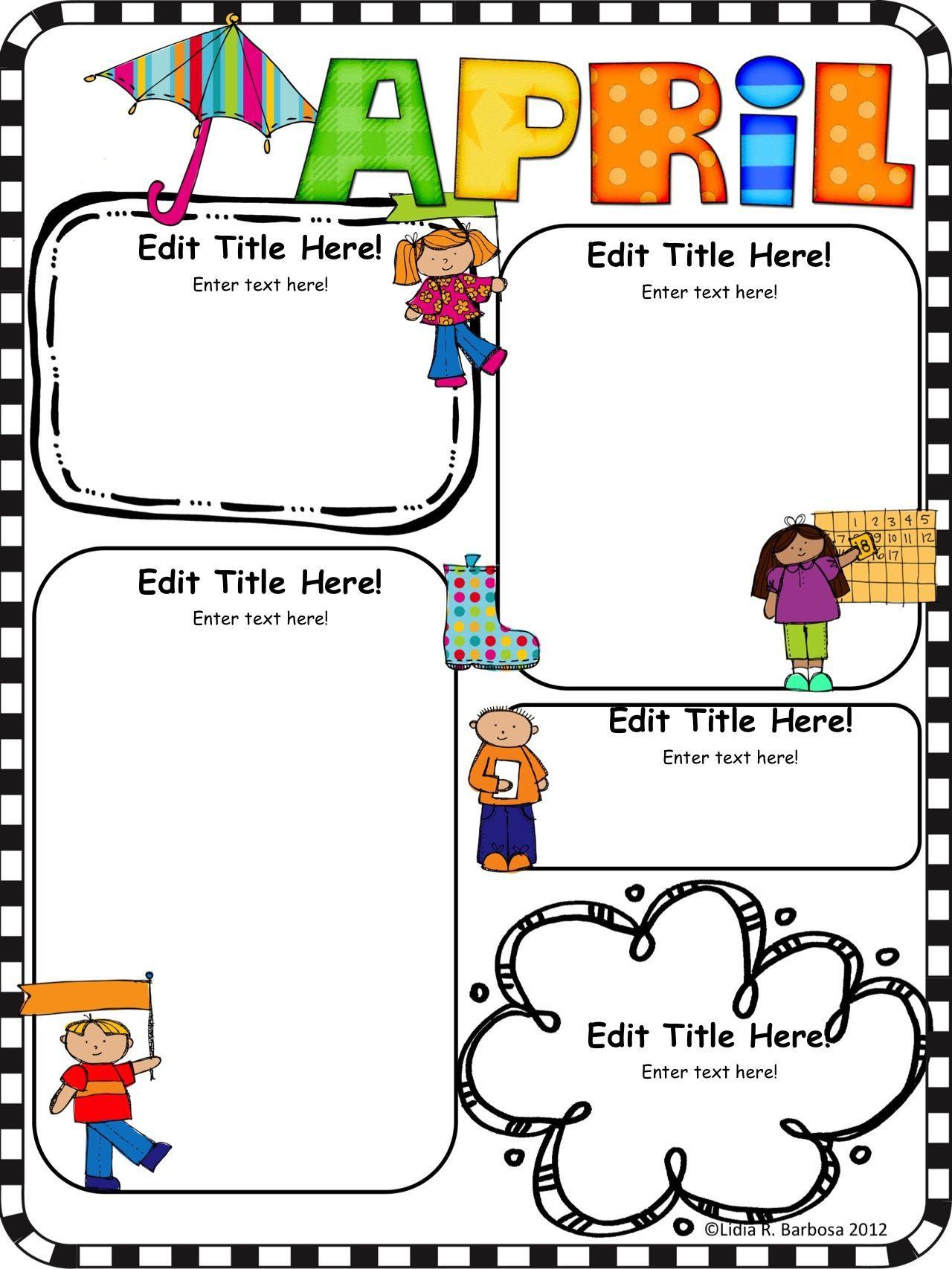 001 Singular Free Editable Daycare Newsletter Template For Word Design  ClassroomFull