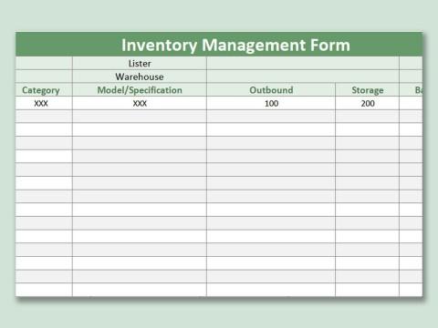 001 Singular Free Excel Stock Inventory Template Idea  Simple480